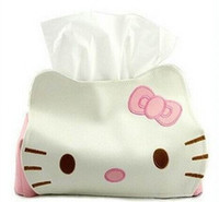 Wholesale Dropship Hello Kitty Cute Home Car Tissue Case Boxes Container Towel Napkin Papers Bag Holder BOX Case Pouch