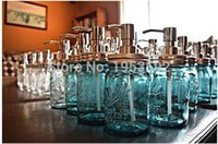 Wholesale sets Mason Jar Hand Soap Dispenser with Stainless Steel Pump and Jar