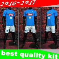 Wholesale New Napoli kit soccer Jersey HAMSIK home INSIGNE GABBIADINI MERTENS thai quality Naples football shirt soccer jersey