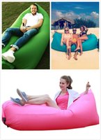 Wholesale Inflatable Outdoor Pads Air Sleep Sofa Couch Portable Furniture Sleeping bag Hangout Lounger Inflate Air Bed Imitate