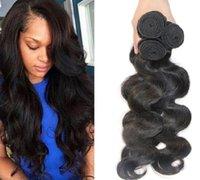 Wholesale Peruvian A Braizilian Hair Weave Malaysian Indian Wet Wavy Hair Weaves Body Wave Bundles Drop Shipping Black Double Wefts