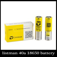 Wholesale original high performance new Listman amp battery mAh V A battery a rechargeable batteries