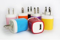 Wholesale 2016 Universal Single Micro USB charger wall usb charger plug cellphone charger adapter for samsung LG HTC mobile phone with colors