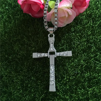 Pendant Necklaces Bohemian Men's The Fast and the Furious necklace Toledo Crystal Christian cross Pendant Necklaces Jesus charm movie jewelry for Christmas gift BY DHL160117