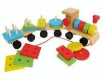 al por mayor trenes thomas-La forma de tres de la sección coches de los bloques tractor pequeño tren de juguete de madera de Protección Ambiental de los juguetes Thomas Tren para niños