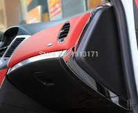 auto glove box - New For cruze sedan hatchback stainless steel Glove box side sequins side cover auto accessories