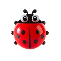 bamboo bathroom sets - New Fashion High Quality Ladybug Toothbrush Wall Suction Bathroom Sets Cartoon Sucker Toothbrush Holder Suction Hooks