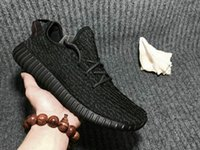 Wholesale Adidas Originals YEEZY BOOST Running Shoes Trainers Shoes Sports Yeezy Sport Shoes Men Women Shoes Pirate Black With Original Box