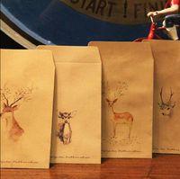 Wholesale Designs Paper Envelope Cute Animal Deer Vintage European Style For Card Scrapbooking Gift