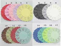 bamboo placemats - quot Mixed Colors Lace Paper Doilies Placemats for Wedding Festival Event Party Decoration Supplies Paper Scrapbooking Crafts