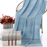 bath towels striped - Bamboo Fiber Towel Three Color Options Soft Absorbent Bamboo Fiber Black And White Striped Towels To Increase Adult HY1240