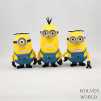 Wholesale J G Chen Despicable Me New Movie Minions Minion Kevin Bob New Model Cm PVC Action Figure Toys PcsSet