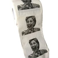 Wholesale 2016 new Hillary Clinton Donald Trump Barack Obama Toilet Paper Novelty Funny Toilet Paper Gag Gift