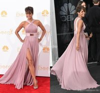 berry films - 2016 Halle Berry Red Carpet Celebrity Dresses Sexy Halter Prom Evening Gowns th Emmy Awards Cannes Film Festival Backless Elie Saab Dress