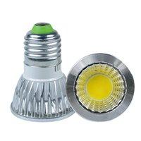 Wholesale 5pcs W E27 LED COB spotlight AC85 V White Warm white indoor lights with CE RoHS