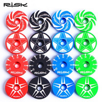 Wholesale Original Risk Mountain Bike Headset Cover CNC Colorful Stem Cover Bicycle Headset Caps for mm Fork Colors Patterns