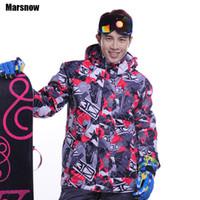 achat en gros de mens snowboard-Gros-Dropshipping veste de ski masculine Livraison gratuite épaissir coupe-vent vêtements de snowboard manteau veste de neige imperméable à l'eau chaude pour hommes