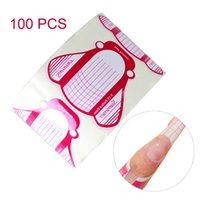 Wholesale French Nail Art Tips Acrylic UV Gel Extension Forms DIY Guide Tool