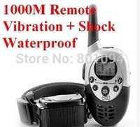Wholesale 1000M Rechargeable LCD REMOTE PET DOG TRAINING COLLAR ELECTRIC LARGE DOG CONTROL