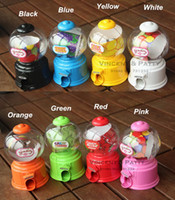 Wholesale Cute Sweets Mini Candy Machine Bubble Gumball Dispenser Coin Bank Kids Toy Worldwide sale