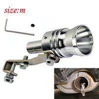 Wholesale Universal Car Turbo Sound Whistle Muffler Exhaust Pipe Blow off Vale BOV Simulator Whistler Size M