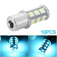 Wholesale 10pcs Car BA15S SMD Turn Signal Backup Tail Light Reverse Ice Blue LED Light bulbs MA572