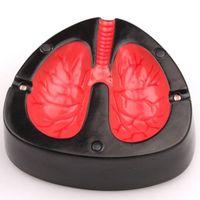 Wholesale New creeative fashion Creative electronic voice coughing ashtray lung model ashtray cinzeiro cendrier ash tray cenicero vape