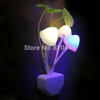 bedded or wedded - Control Sensor Light Colorful Mushroom Night Lights Bed Lighting LED Lihgt Baby Wall Lamp US or EU plug Optional