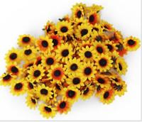 arranged weddings - Sunflower Buds Artificial Silk Flower Heads Hydrangea cm for Wedding Home Real Touch Bridal Bouquet Party Christmas Decoration Arrange