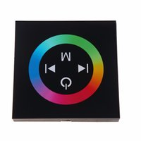 Wholesale Glass and ABS Dimmers DC12 V Black color Touch Panel LED Dimmer Controller channels