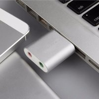 Wholesale In Stock External USB CH Virtual Audio Sound Card Adapter Converter Notebook New Arrival