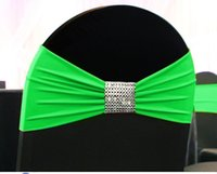 Wholesale 100 spandex lycra chair bands elastic chair sash chair band with buckle for wedding more than colors avaiable