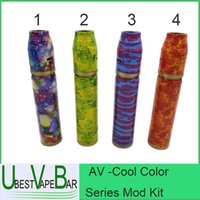Wholesale AV Cool Color Series Mod Kit October New Mech Mod Rogue Mechanical Mod Pattern Min orders units