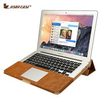Wholesale Jisoncase PU Leather Stand Cover Case For MacBook Air Pro Retina inch Sleeve Luxury Leisure Laptop Bags amp Cases