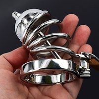 penis plugs - Male Chastity Belt With Urethral Sound Penis Ring Stainless Steel Cock Cage Device Penis Plug Urethral Catheter Sex Toys