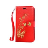 silicone handbags - Chain pouch wallet handbag iphone plus pink PU leather phone case with gold stamping butterfly for iPhone7 S S plus