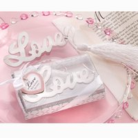 affordable wedding favors - Affordable Wedding Favors Love Letters Bookmark Party Stainless Steel Tassels White