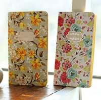 aged paper - Vintage Flower Age Subject Kraft Paper Notebook For Students