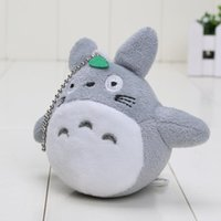 Wholesale 200pcs cm Japanese Anime Gray My Neighbor Totoro Plush Keychain Dolls Toys