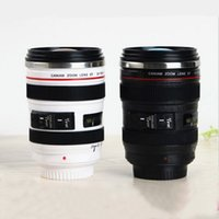 Wholesale Camera Lens Cup Coffee Travel Mug Thermos Stainless Steel Leak Proof Lid