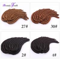 Wholesale 2016 Popular Synthetic Jumbo Braiding Hair Extensions quot packs Havana Mambo Crochet Twists braids Hair African Hairstyle Bomba Twist