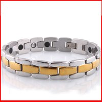 balance bracelet wrists - Health Germanium energy magnetic power bracelet golden chain balance men women titanium Energy Bracelets bangles wrist bands
