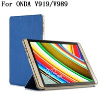 apple sku - Ultra thin folding Stand PU Leather Case Cover For ONDA V919 AIR V989 AIR inch Tablet Case SKU Z2A