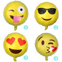 balloons making toy - QQ emoji balloon Aluminium Coating made wedding balloon party birthday balloon toy inch styles can choose