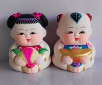 Wholesale China traditional crafts of Huishan clay figurines Daofu famous works name quot llongevity health quot and means happy life handmade crafts