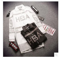 Wholesale The new HBA sweater Korean version of Harajuku style in Europe and America women s coat long section of gauze couple leave two autumn cardig