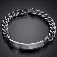 Wholesale Factory Direct New Men Jewelry Name Bracelet Stainless Steel Cuban Link Chain Bracelet For Birthday Gift