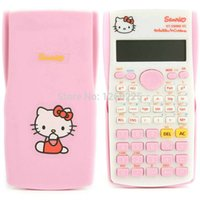 Wholesale Pink cute kawaii student Hello Kitty scientific calculator function counter computer PLUS KT MS calculator gift