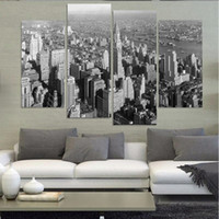 big canvas paintings - Beautiful Big City Vertical View Landscape Oil Painting Wall Art Home Decoration Canvas Paintings For Living Room Unframed