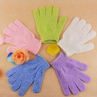 Wholesale Useful Household Body Skin Exfoliating Glove Cleaning Scrub Massage Mitt Bath SPA